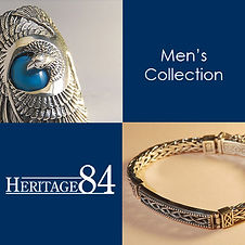 Men's jewelry in sterling silver