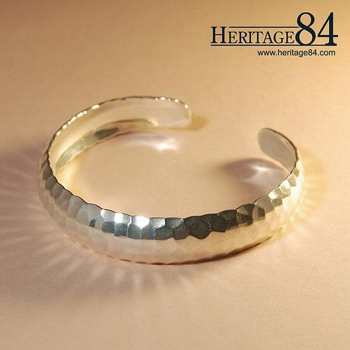 Hammered Bangle - Handmade silver cuff bangle