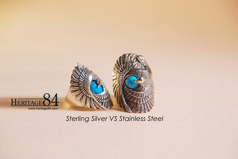 major difference between silver and steel jewelry