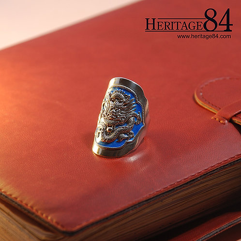 Oriental Dragon Ring | Retro Chinese Fine Silver Ring