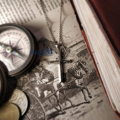 Silver Cross Necklace, unisex Silver Cross Pendant