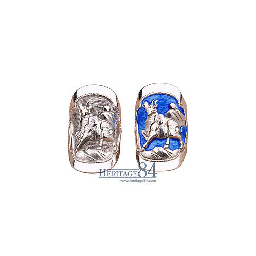 Bull, Ox, Fine Silver RIngs, Chinese Zodiac Animals