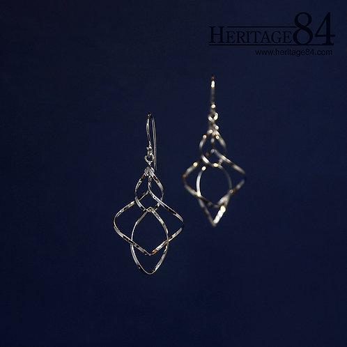 Handmade Silver Earrings | Whirling dangle earrings