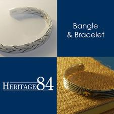 Sterling silver bracelet and bangle | Heritage84
