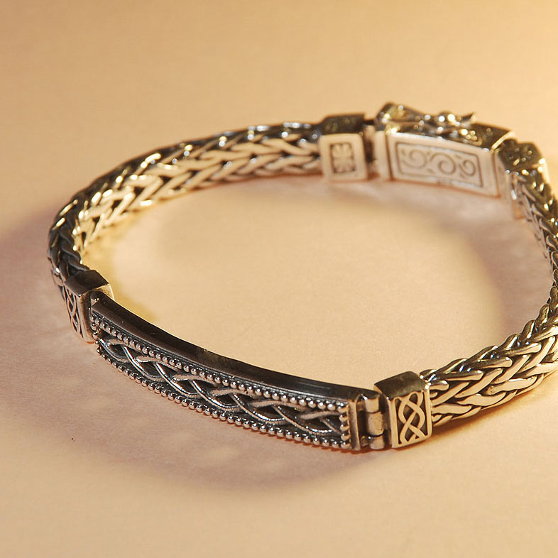 Solid silver bracelet for man