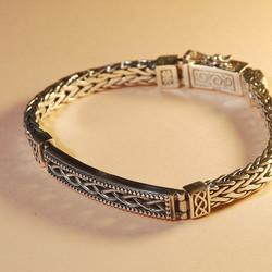 Solid silver bracelet for man