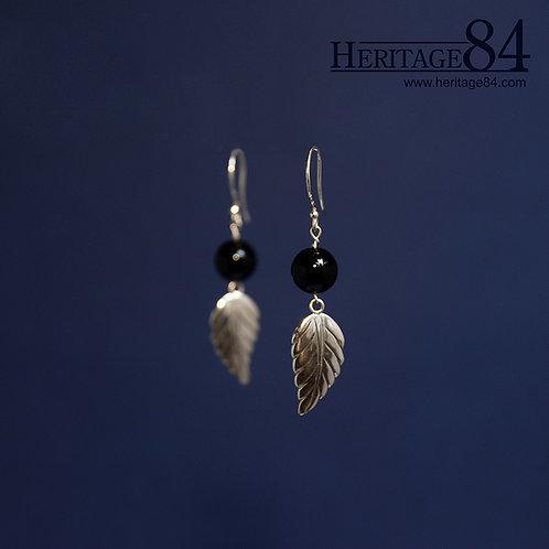 Black onyx drop earrings  | sterling silver dangle earrings