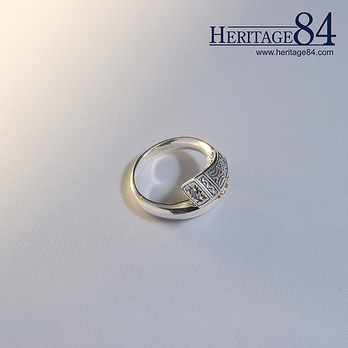 Retro sterling silver band ring   Adjustable Wrap Around Ring