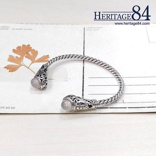 Retro Cuff bracelet for woman | Silver Bangle