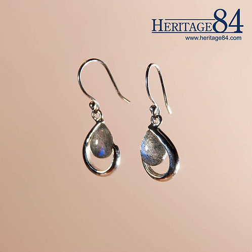 Labradorite Earrings in sterling silver | Teardrop Earrings