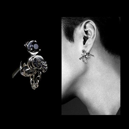 Japanese Katana sword earring, Stud earring for man and women