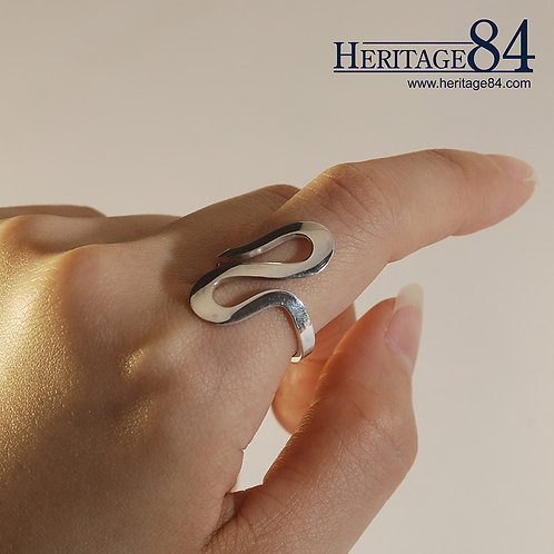 Infinite - 925 Sterling silver band ring
