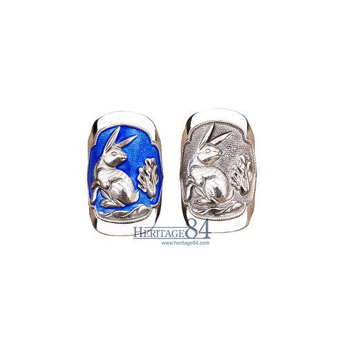 Rabbit, Fine Silver Rings, Chinese Zodiac Animals