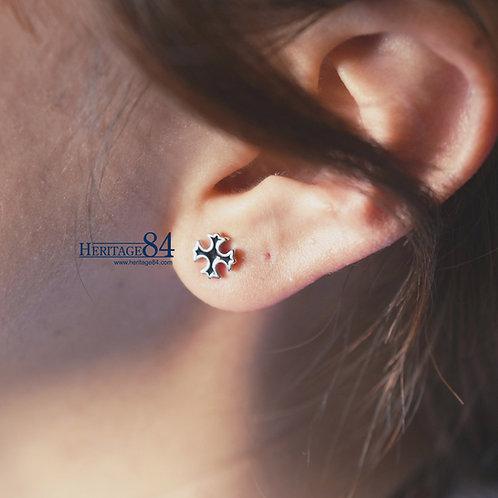Dainty cross ear stud, cross stud, cross earrings,