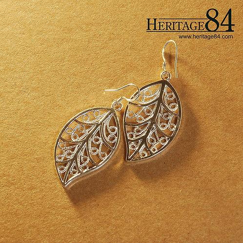 Leaf earrings - Leaf shape drop earrings