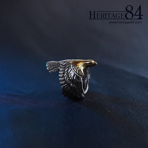 Golden Eagle Ring | Statement Ring for Man or Woman