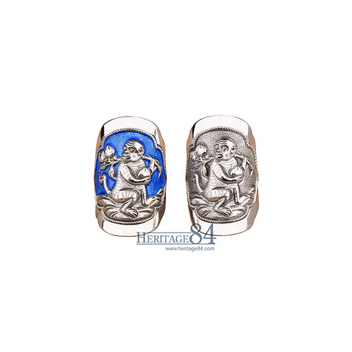 Monkey, Fine Silver Rings, Chinese Zodiac Animals