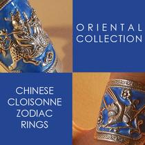 Chinese Cloisonne Zodiac Jewelry