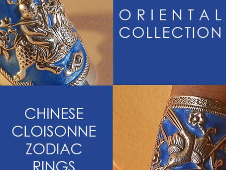Chinese Cloisonné Zodiac Jewelry