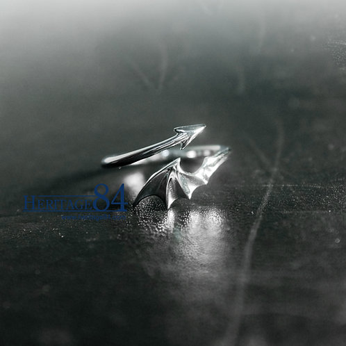 Devil wing - Silver ring for couples