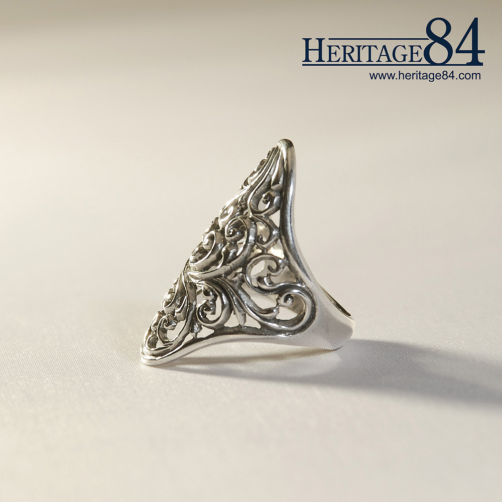 Handcrafted sterling silver ring