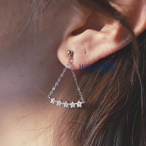 Dainty star drop earrings, stars earrings, drop earrings,