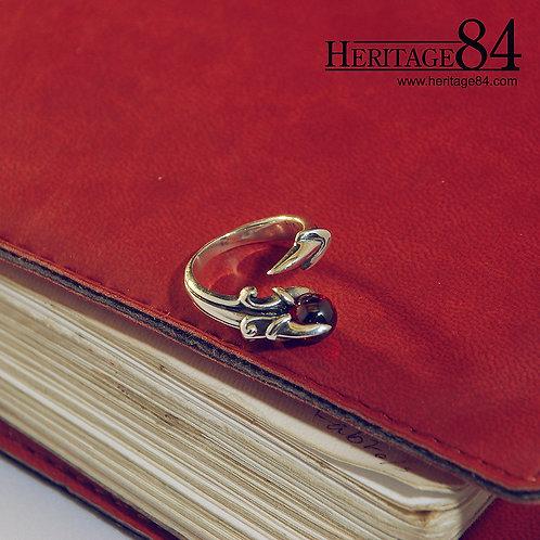 Red Garnet Claw Ring | Adjustable Dragon Ring