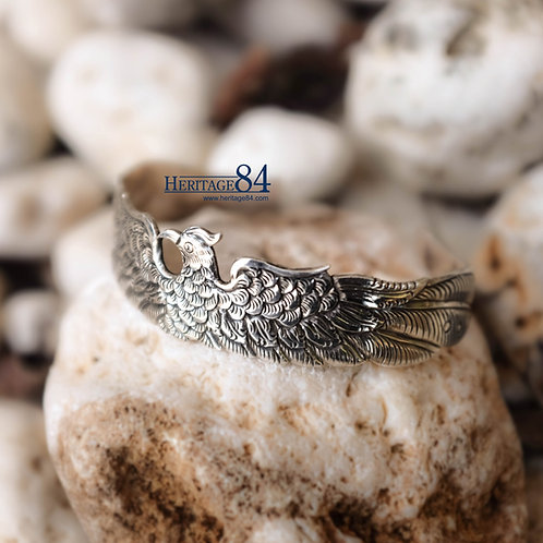 Eagle Bracelet, men's silver bracelet, cuff bracelet for men