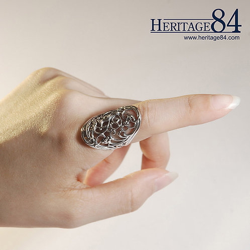 Handmade silver ring for woman female - index finger ring in sterling silver