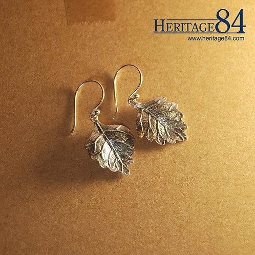 Leaf shape drop earrings | Solid sterling silver