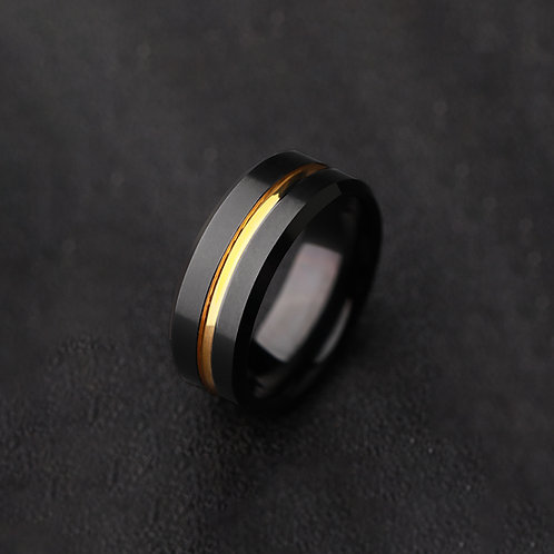 Black Tungsten ring for index finger and middle finger