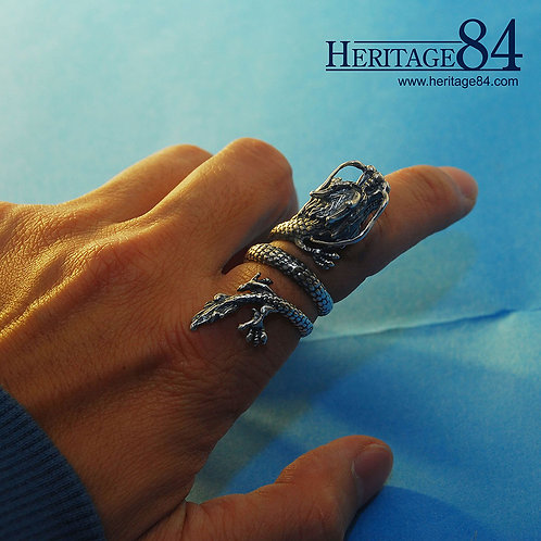 Chinese Dragon Ring | Oriental Silver Ring
