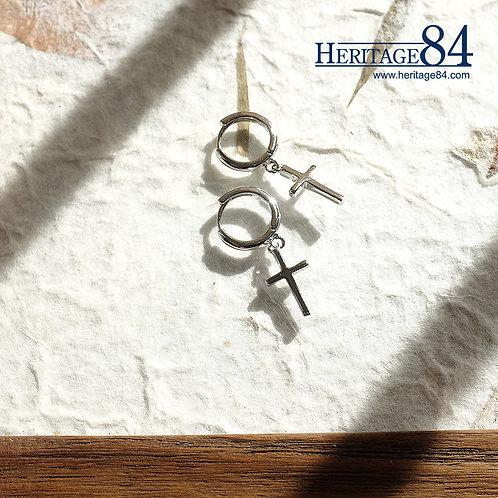 Heritage84 Cross Earrings in 925 Sterling silver