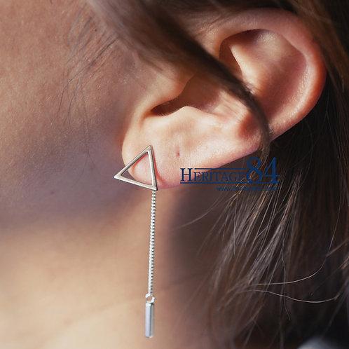 Dainty triangle drop earrings, trendy drop earrings