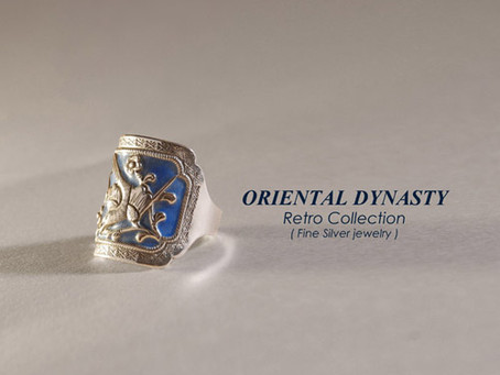 Oriental Retro Silver Ring, Chinese fine silver rings.