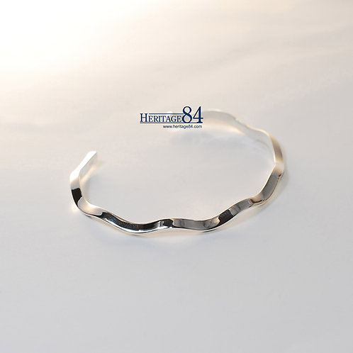 Cuff Bangle Bracelet for women,925 sterling silver bangle