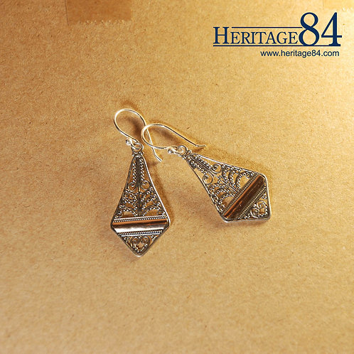 Gold Accented Earrings | 925 Sterling Silver