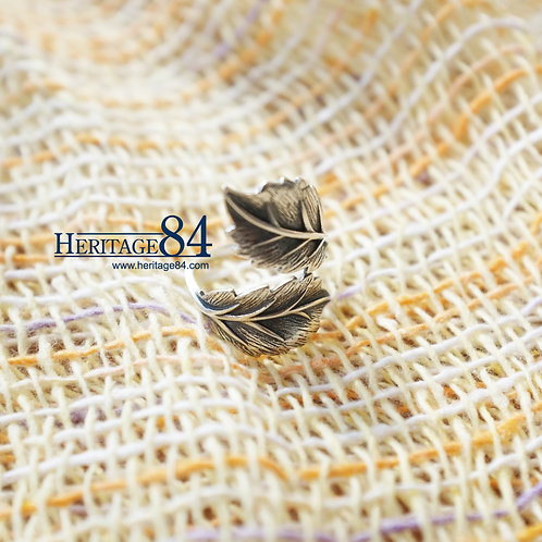 Index finger ring, Silver ring for women, leaf silver ring