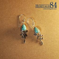 Turquoise Drop Earrings in Silver