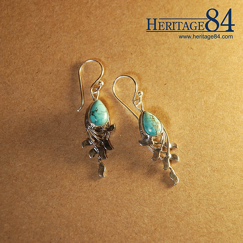 Turquoise Drop Earrings | 25 Sterling Silver Earrings