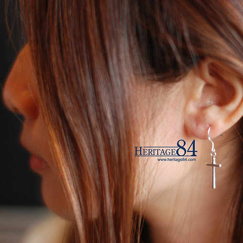Cross Earrings in 925 Sterling silver Heritage84 Earrings