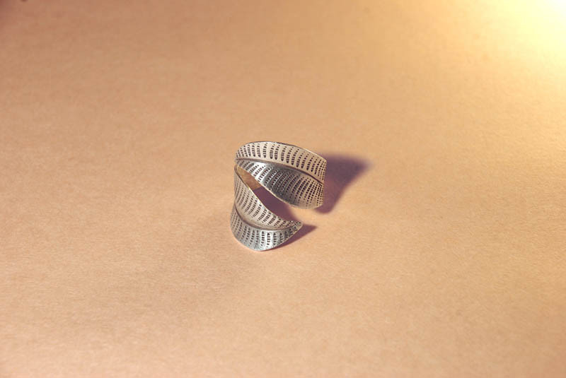 handmade silver wrap ring for woman