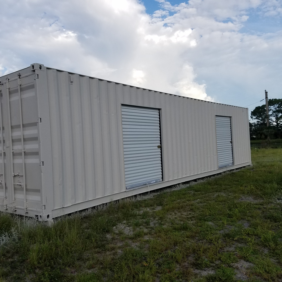 40' High Cube Conex with Roll Up Doors