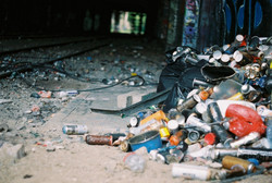 Graffiti debris, La Petite Ceinture