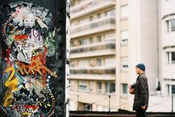 Graffiti art on railway bridge
