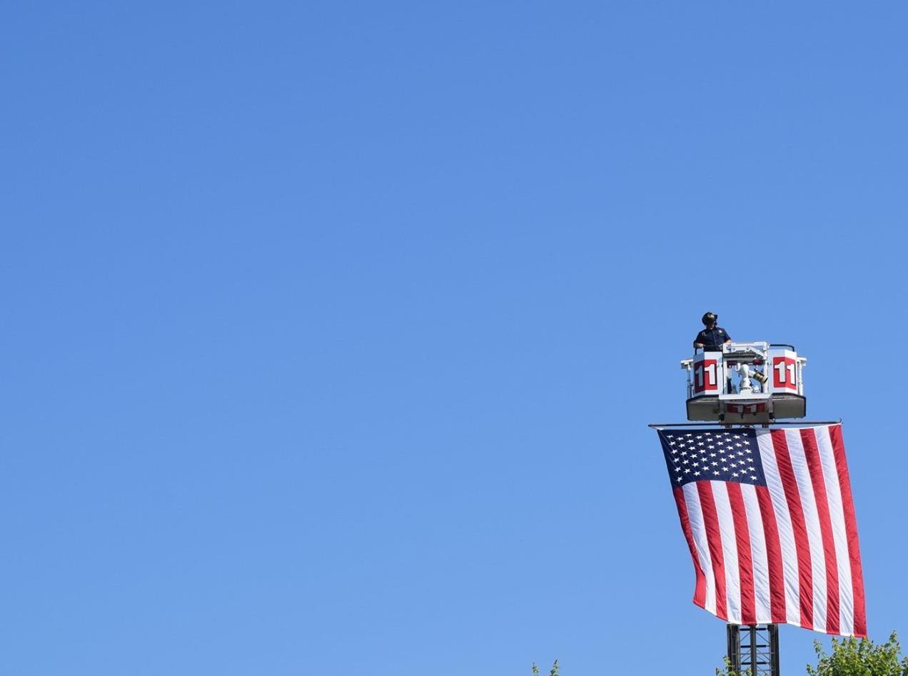 USA Flag over Georgia National Cemetery