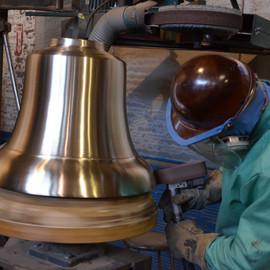 Polishing a Bell.JPG