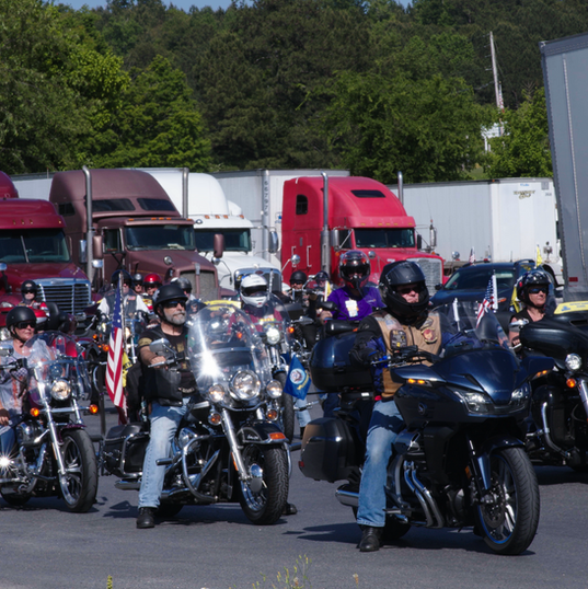Tower escort_ riders lining up picture.p
