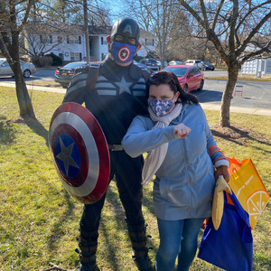 Captain America and Elizabeth Ford
