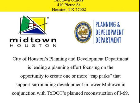Cap Park -  DATE CHANGE!  Hope to see you July 17, 6-7:30 pm, Midtown offices,  Public Meeting No. 2